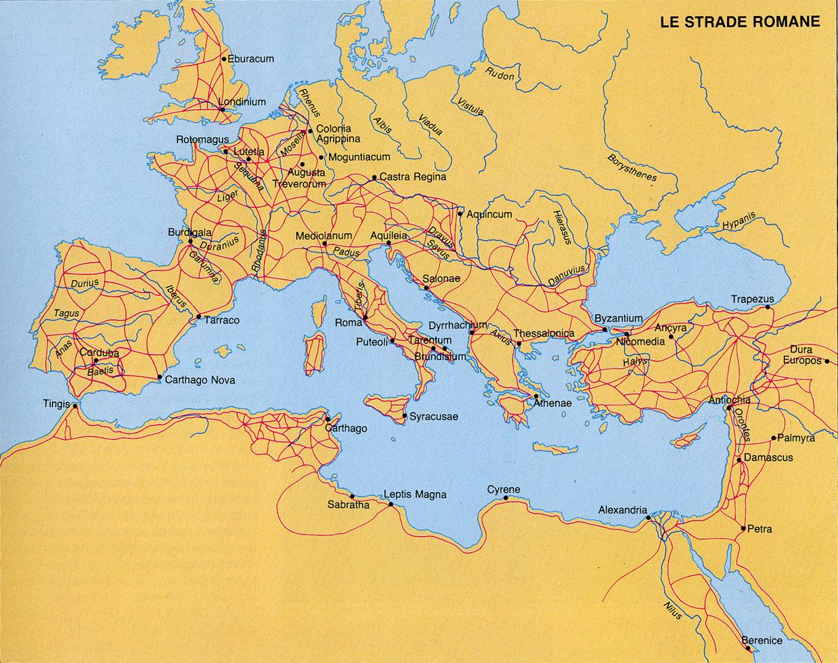Cartina Geografica Del Mediterraneo.La Piu Fitta Rete Stradale Del Mondo Antico Articoli Dea Live Geografia