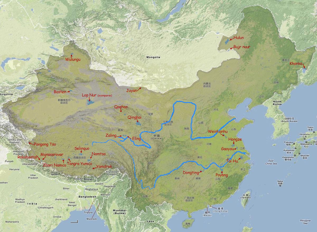 Cartina Climatica Cina.I Laghi Della Cina Stanno Sparendo Articoli Dea Live Geografia