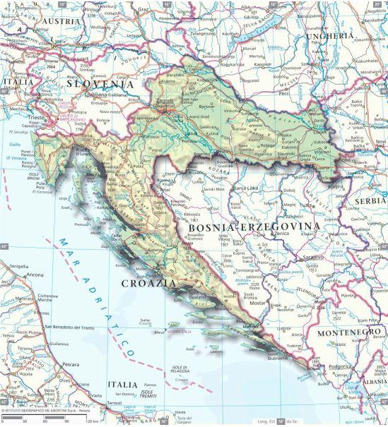 Cartina Della Slovenia E Croazia.La Croazia E Entrata Nella Ue Che Cosa E Cambiato Articoli Dea Live Geografia