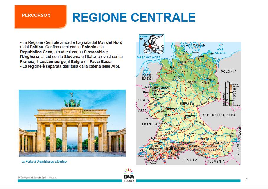 Cartina Muta Europa Centrale.L Europa Centrale Una Lezione Per La Didattica A Distanza Articoli Dea Live Geografia