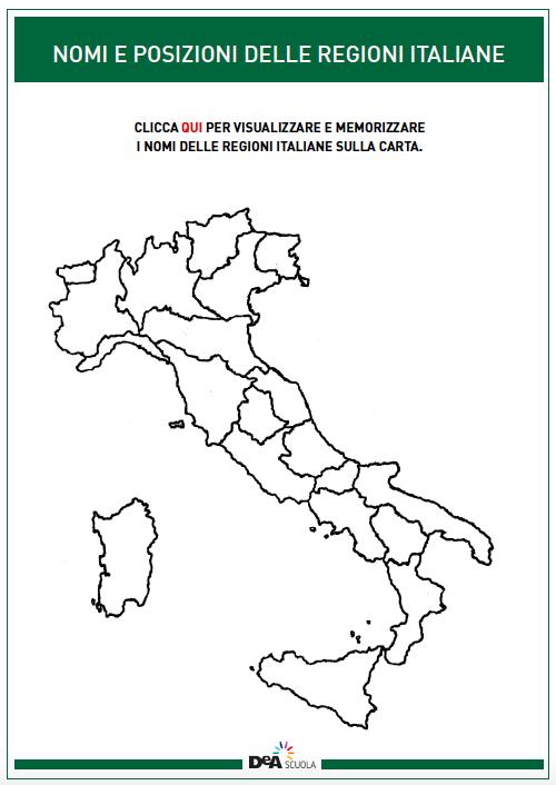 Cartina Muta Delle Regioni Ditalia.Gioca Geo 6 Confini In Gioco Articoli Dea Live Geografia