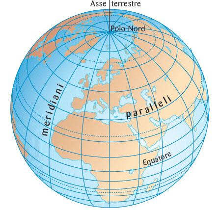 Latitudine longitudine e il disegno della terra - Immagine da colorare della terra ...