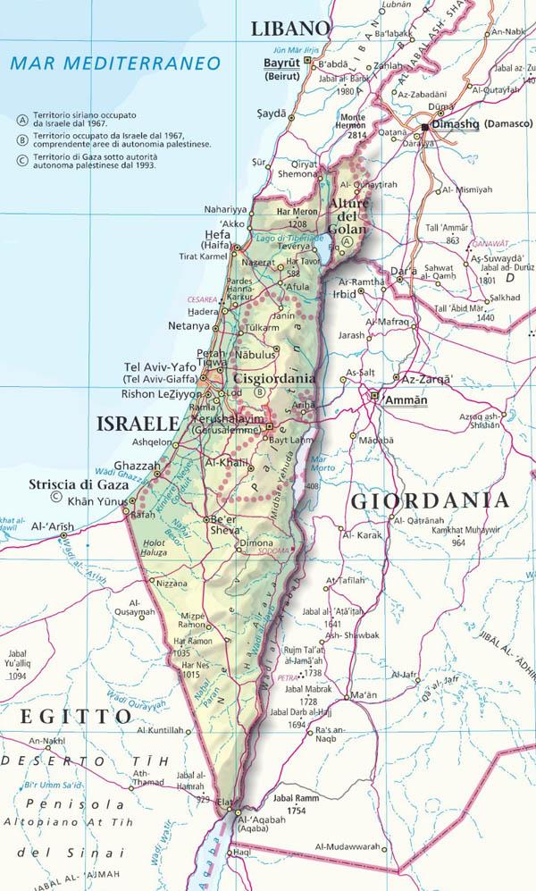 Cartina Muta Della Palestina.Israele Palestina Cartina Tomveelers